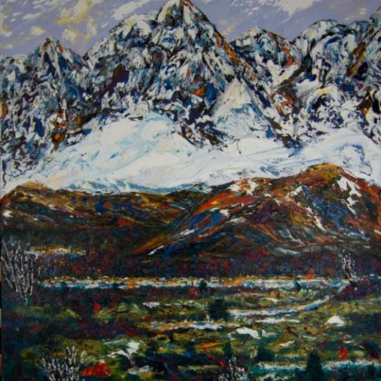 Umetniška-slika-Klic-Gora-olje-na-platnu-550x550